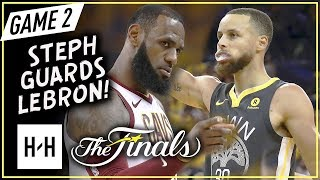 LeBron James vs Stephen Curry INTENSE Game 2 Duel Highlights (2018 NBA Finals) - One-on-One Plays!