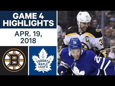 NHL Highlights | Bruins vs. Maple Leafs, Game 4 - Apr. 19, 2018
