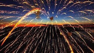 DRONE IN FIREWORKS!