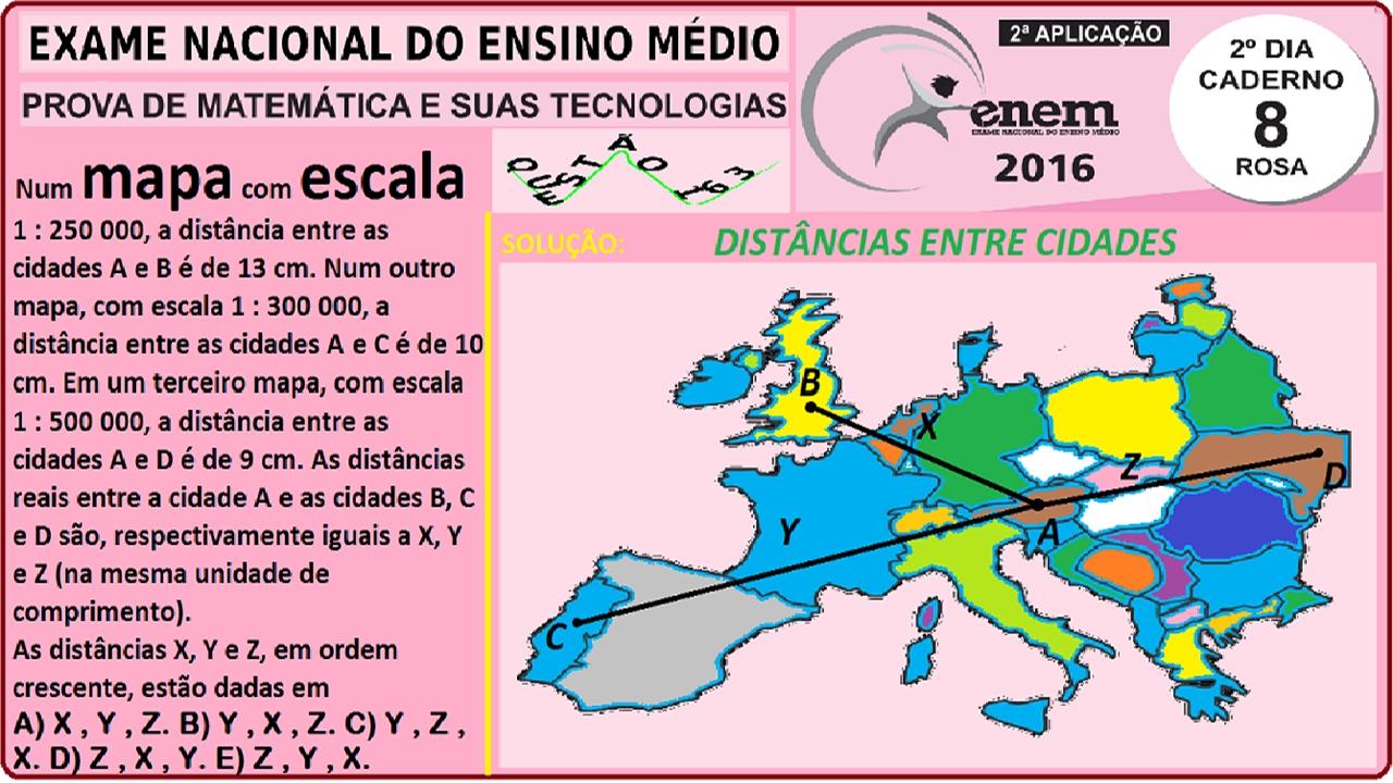 CURSO MATEMÁTICA ENEM 2016 QUESTÃO 163 PROVA ROSA ...