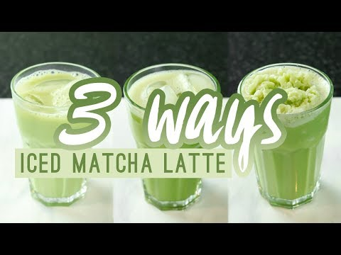 HOW TO MAKE AN ICED MATCHA LATTE AND FRAPPUCCINO AT HOME | 3 RECIPES | #FITFORAQUEEN QUEENSHIRIN