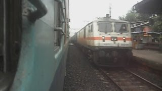 Black Diamond Express Behind WAP-7 blast through Saktigarh