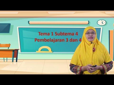 Video Pembelajaran Tematik Kelas 1 Tema 1 Subtema 4…