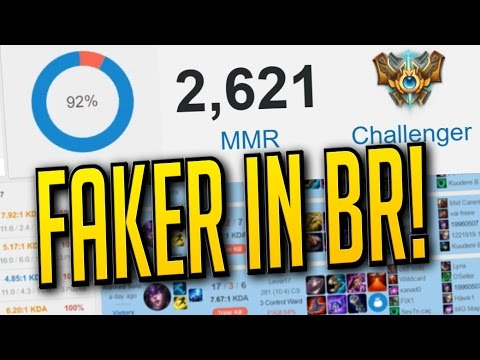 FAKER IN BR! - 92% Win Ratio Challenger! - SoloQ Highlights