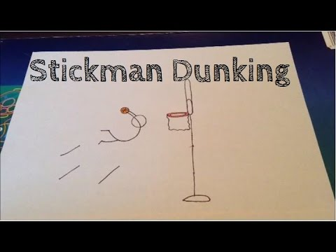 How To Draw A Stickman Dunking Youtube