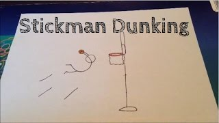 How to draw a stickman dunking