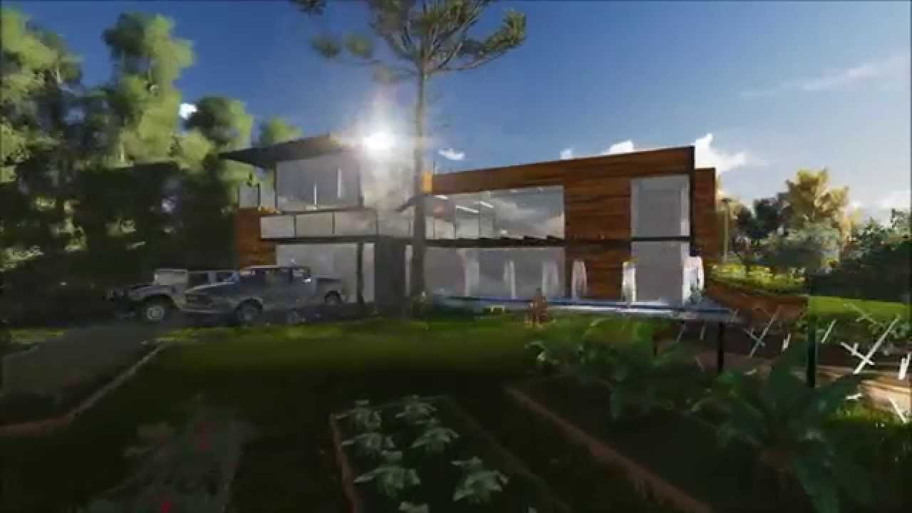 Casa moderna rural sostenible youtube for Casas rurales modernas