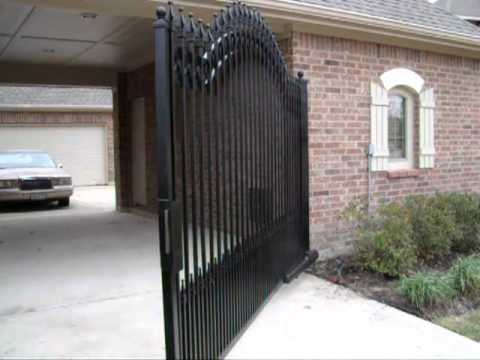 Gate With Magnetic Lock Youtube