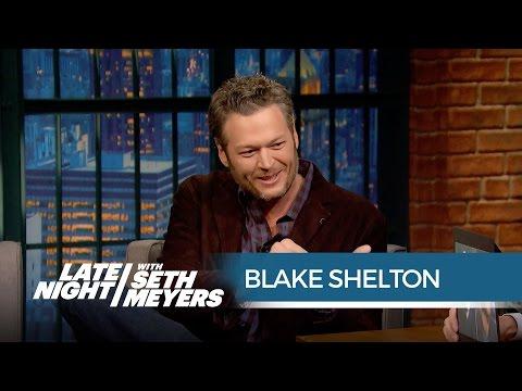 Blake Shelton Loves Mocking Adam Levine on Twitter - Late Night with Seth Meyers