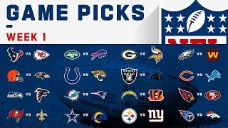Week 1 Game Picks!   NFL 2020