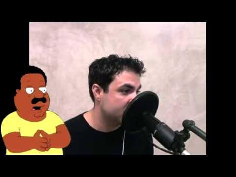 Man Rapping To Chris Brown's -Look At Me Now- All In Family Guy Voices!