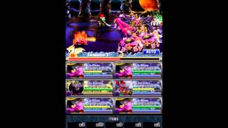 Brave Frontier - Magress and Mifune vs Lv 10 Cursed Estia (Unholy Tower 2 191-200)