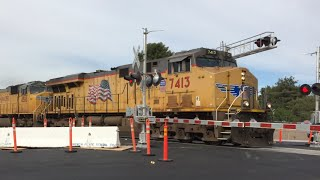Union Pacific Baretables, Rebuilt Florin Road Railroad Crossing With Brand New Signals