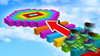 EXTREME RAINBOW NOOB vs PRO RACE!