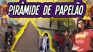 FIZEMOS UMA PIRÂMIDE DE PAPELÃO !!! (BOX FORT)