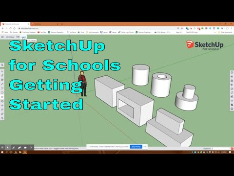 Getting Started in SketchUp for Schools, Assignment #1, Basic Shapes