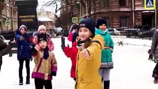 "Флешмоб ""Утренняя гимнастика на Пушкинской у Пушкина"""