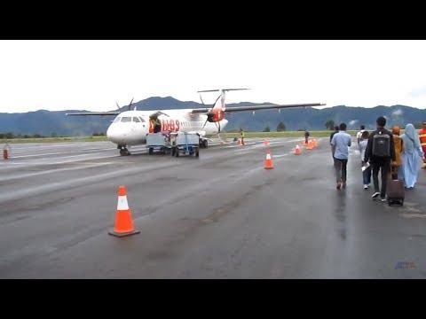 TERBANG KE TAKENGON [BANDARA REMBELE BENER MERIAH] dr Kualanamu Medan | ATR 72-600 Wings Air