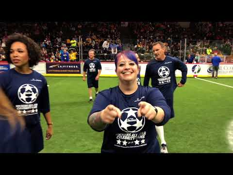 91X's Danielle Playing in the San Diego Sockers Celebrity Game