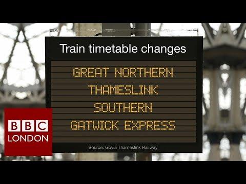 Train timetable shakeup – BBC London News