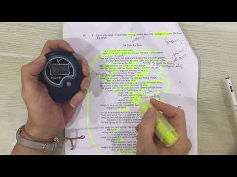 iGCSE Literature poetry planning