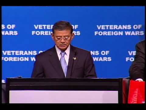 Secretary Shinseki speaking at VFW