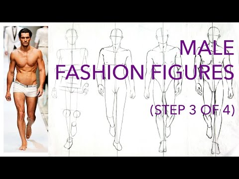 Male Fashion Figures: Step 3 (of 4): Drawing Muscles