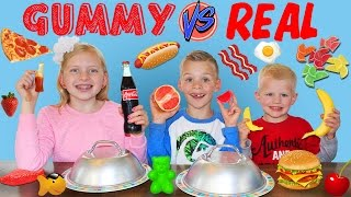Gummy Food vs. Real Food Challenge thumbnail