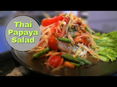 Thai Papaya Salad recipe from Home Thai Sydney