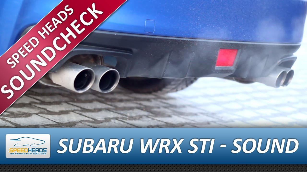 subaru wrx sti 2014 auspuff exhaust sound start rev