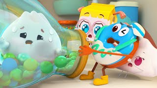 Let's Play Hide And Seek! | Donut, Burger, Cupcake | Yummy Foods Animation | Kids Cartoon | BabyBus