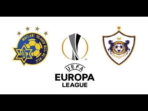 Маккаби Тель Авив Карабах 1 - 0 обзор матча футбол Лига Европы 2020 трансляция смотреть онлайн