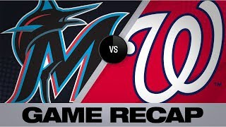 Rendon's walk-off single in 9th lifts Nats past Marlins | Marlins-Nationals Game Highlights 8/30/19