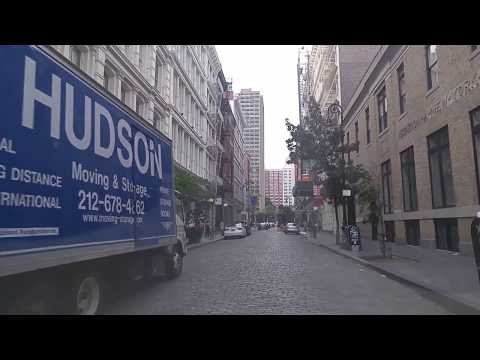 Driving from Chinatown to Chelsea in Manhattan,New York