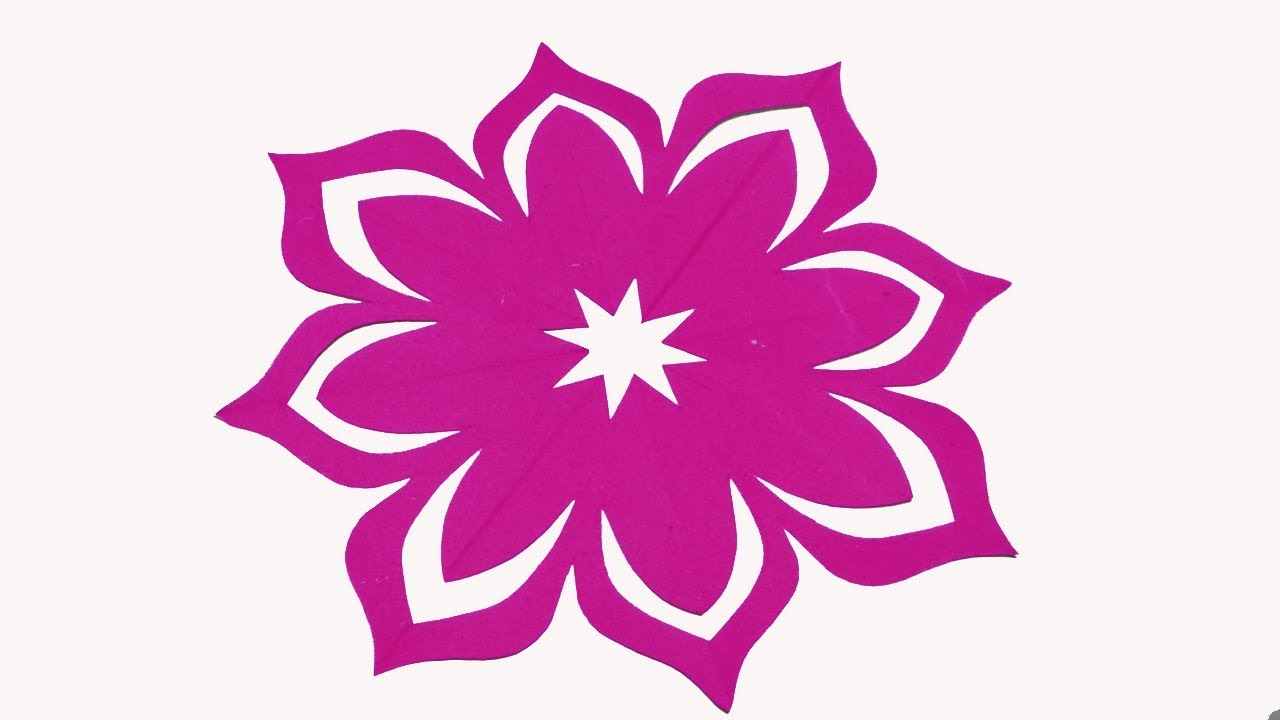 paper cutting flower-How to make simple & easy paper ...