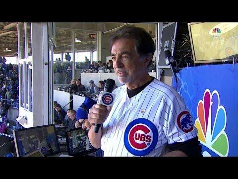 NYY@CHC: Mantegna sings Take Me Out to the Ballgame