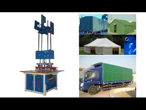Hanging-style high frequency pvc canvas,tent and tarpaulin welding machine