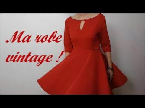 Diy couture :Coudre ma robe vintage,et, réaliser son patron (gratuit)!