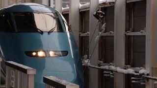 とれいゆつばさ 99号 福島駅14番線から発車
