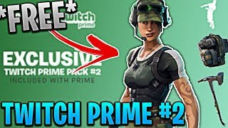 How To Unlock FREE Skins in Fortnite! EXCLUSIVE Twitch Prime Pack 2 Gameplay! (NEW TWITCH SKINS)