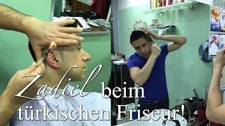 Türkischer Herrenfriseur BARBIER - Zadiel lässt sich die Haare schneiden! Frisurentipps für Männer.