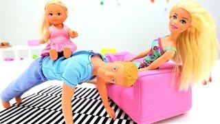 Видео для девочек: БАРБИ, Кен и Штеффи. Игры для девочек - куклы barbie. Игра в прятки