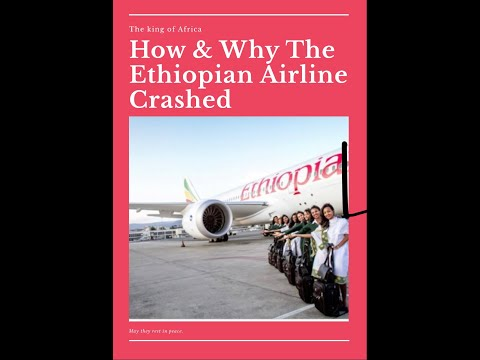 Footage, Ethiopian Airlines Crashed after take off 2019