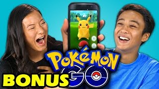 TEENS REACT TO POKEMON GO (APP) (BONUS #125)