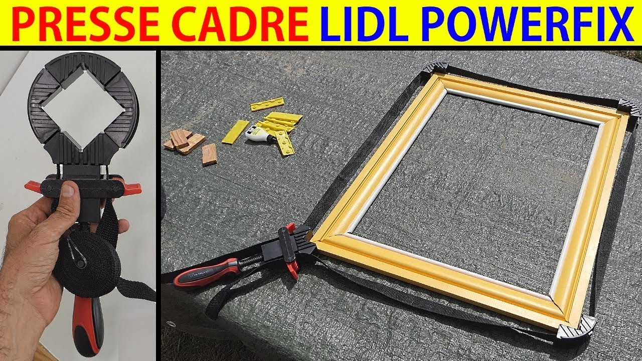presse cadre powerfix lidl prs 2 strap clamp rahmenspanner - youtube