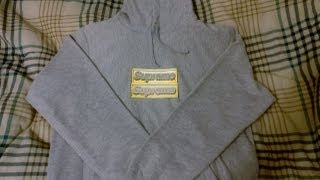 532a1e1a37a Supreme Heather Grey Bling Pullover Hoodie Review Spring Summer 2013 Box  Logo