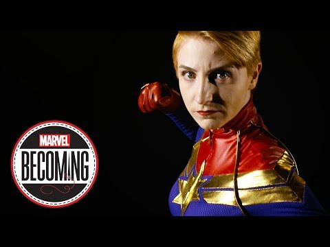 Cosplayer Marcy Schwerin Becomes Captain Marvel - Marvel Becoming