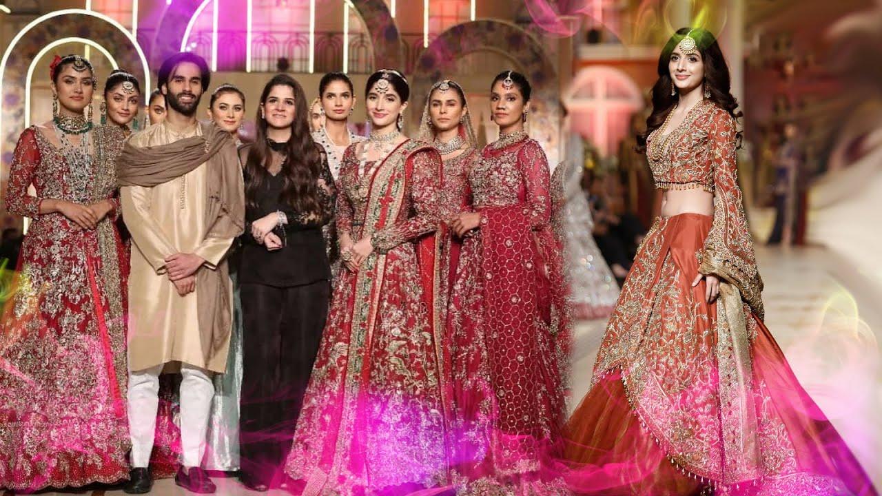 uncut pakistani top bridal fashion show