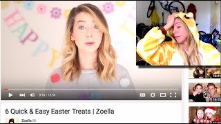 zoella response video to 6 quick easy easter assgina treats