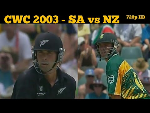 WorldCup2003 | South Africa vs New Zealand | Herschelle Gibbs Best Batting | Stephen Fleming Century